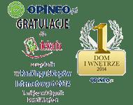 1 miejsce w Rankingu Sklepów Internetowych 2014 Opineo.pl