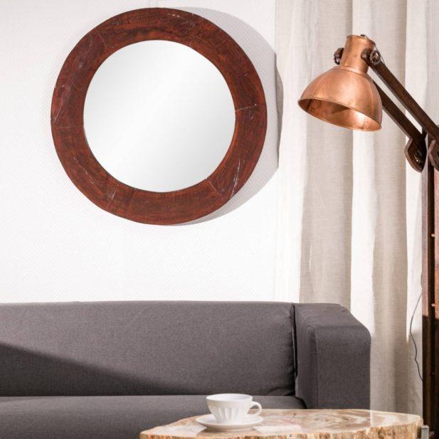 Dekoria.pl, lustro okrągłe Wood