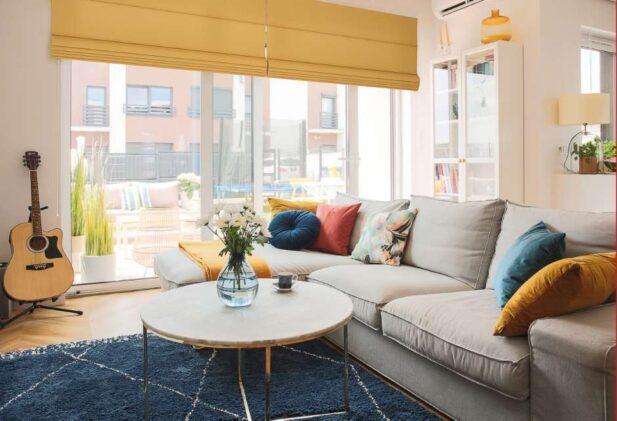 Декор гостиной - осенние краски