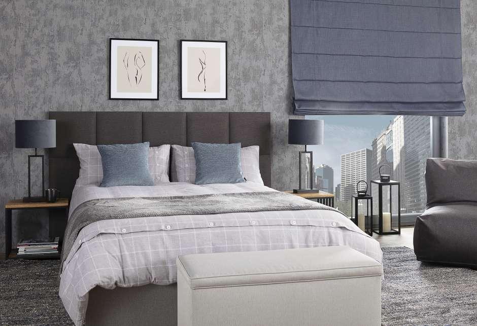 Ткани льняные - применение в спальне.