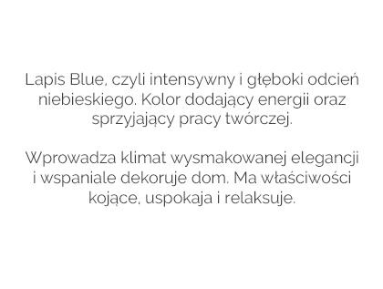 Najnowszy trend wnętrzarski- kolor lapis blue