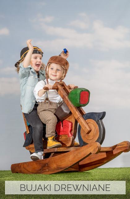 drewniane bujaki, zabawki dla dziecka, bujak