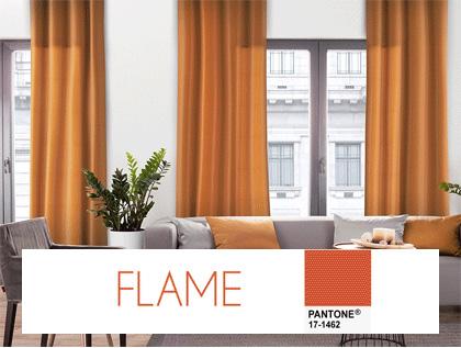 Trendy kolorystyczne we wnetrzu- kolor flame, ognista pomarańcz
