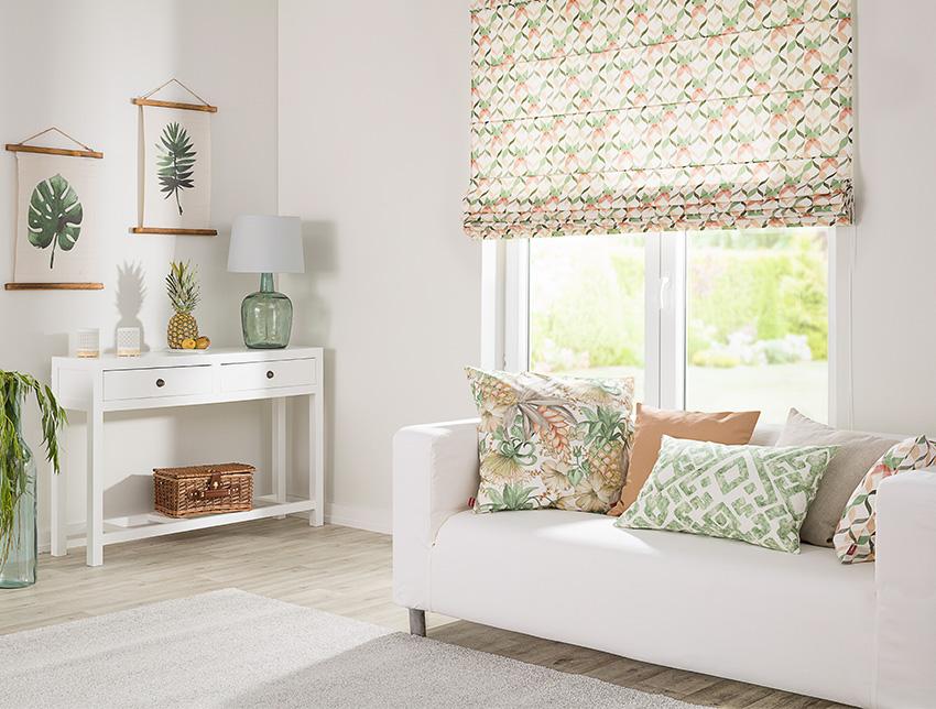 Tropikalne wzory w salonie