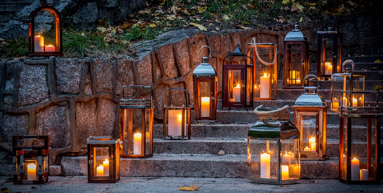 Lampiony do salonu i na ogród