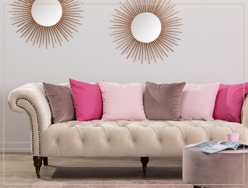 Poszewki na poduszki w kolorze różowym