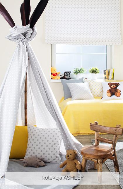 Modne tkaniny w pokoju dziecka