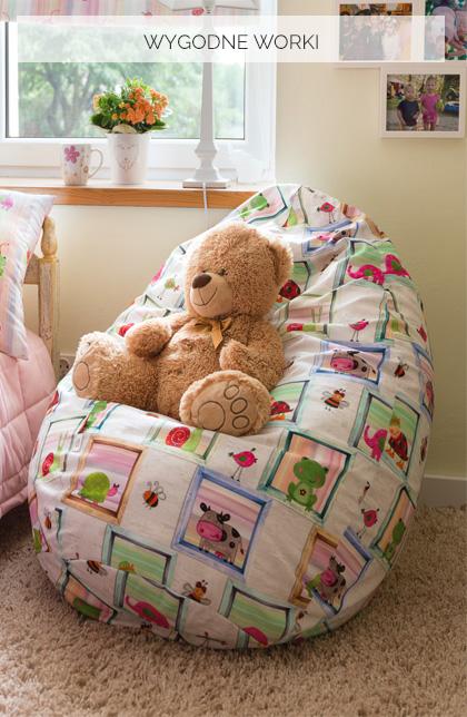 Worek do siedzenia- idealne siedzisko do pokoju dziecka, nastolatka, niemowlaka