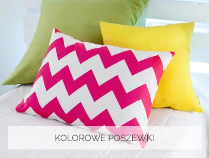 Kolorowe poszewki na poduszki- pokój dziecka