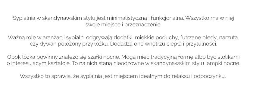 styl skandynawski- sypialnia