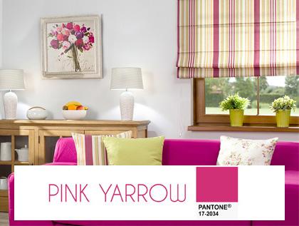 Najnowsze trendy kolorystyczne roku 2017- pink yarrow, odcień różu, energetyczny róż