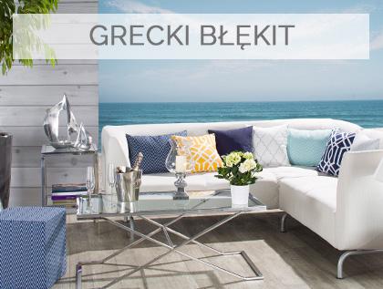 GRECKIE WAKACJE, Grecki klimat w dekoracji wnętrz, kolor niebieski i biel we wnętrzach,