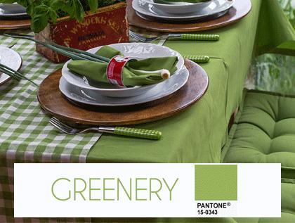 Kolor greenery we wnętrzu