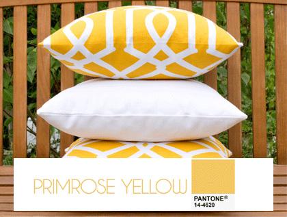 Trendy kolorystyczne we wnętrzach - kolor primrose yellow, żółty