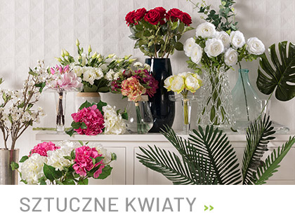Dekoracyjne kwiaty sztuczne