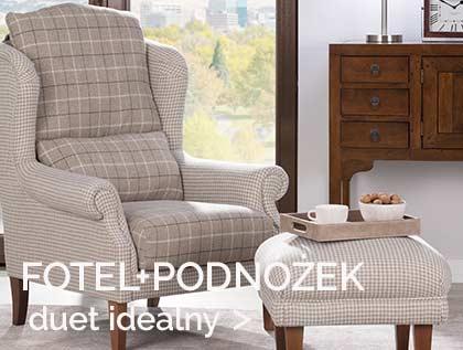 fotel, podnóżek, idealne meble do wypoczynku, fotel uszak