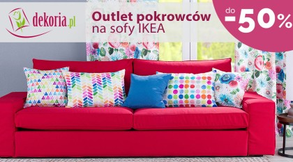 Outlet pokrowców na sofy IKEA do -50%