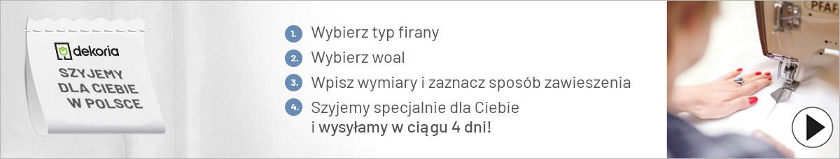 Firany woalowe na wymiar szyjemy dla ciebie w Polsce