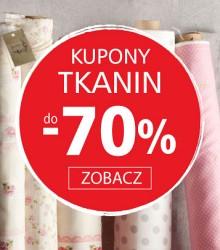 Tkaniny do -70% taniej