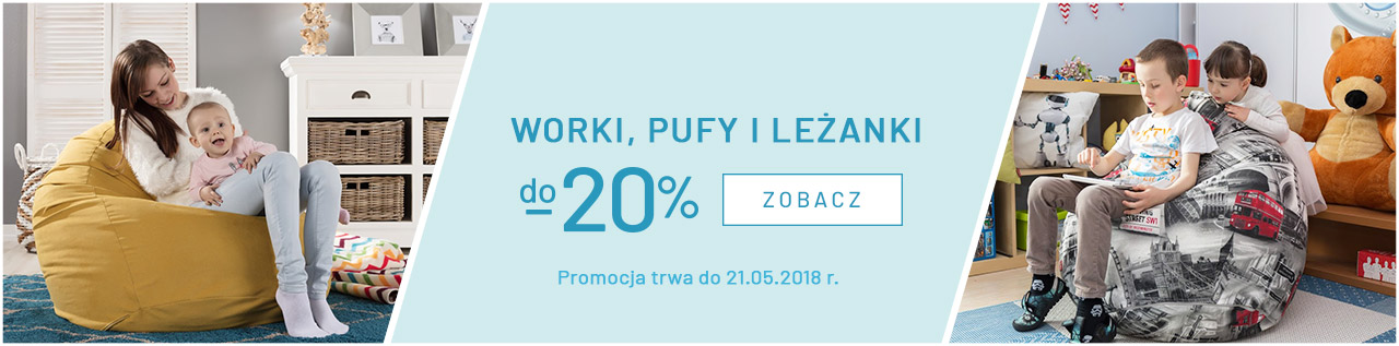 Worki, pufy i leżanki do -20%