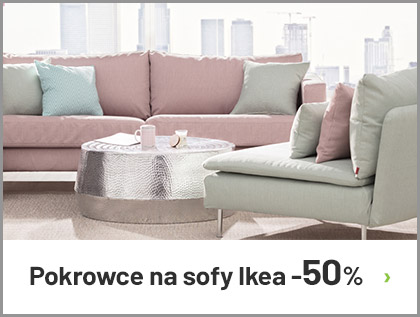 Pokrowce na sofy z Ikea do -50%