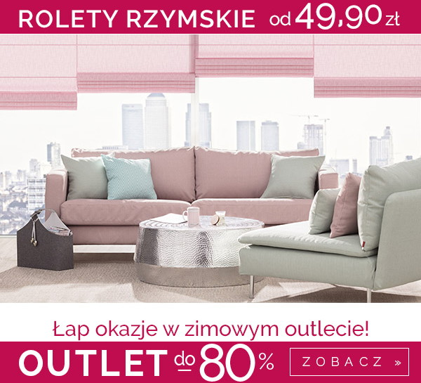 Outlet rolet rzymskich do -80%