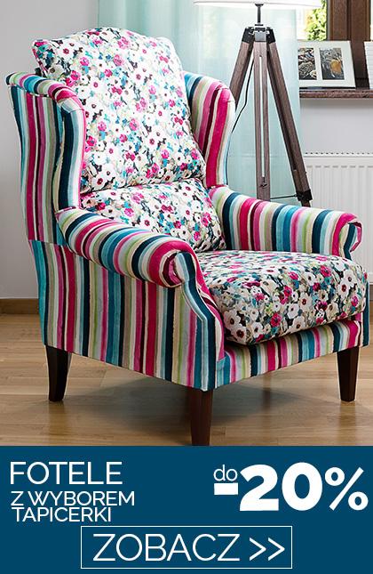 Fotele z wyborem tapicerki do -20%