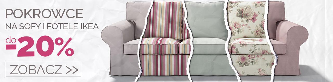 Pokrowce na sofy i fotele IKEA do -20%