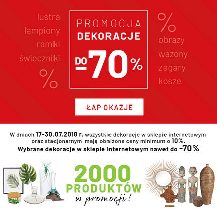 Dekoracje promocje do -70%