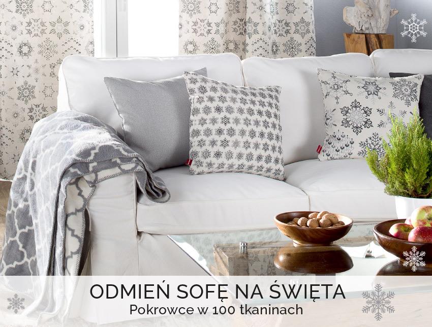 Odmień sofę na święta.